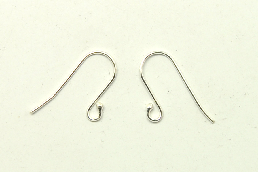 925 Sterling Silver Earring Hooks Tadpole Style 19mm 3 Pairs 12 C1 I Love You Bead