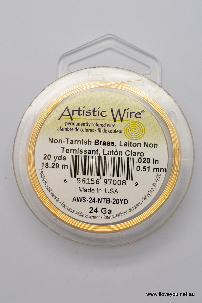 Artistic Wire 24S Gauge Wire Gold Color 10-Yard by Artistic Wire