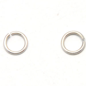 a03c29cf8 925 Sterling Silver – Jump Rings, Open, with white gold plated, 4mm,  14pcs/pack (19-B)
