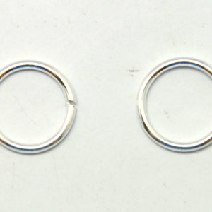 8537317bc 925 Sterling Silver – Jump Rings, Open, with white gold plated, 10mm,  2pcs/pack (19-G)