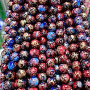 Gold Stripe Glass Beads